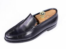 * JOHN LOBB * Chester Black Leather Slip-On Loafers Dress Shoes UK 8 - US 9