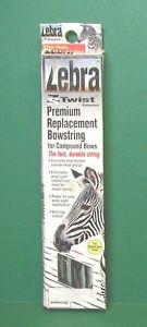 "New Mathews Zebra ZS Twist Premium Replacement Bowstring - 88 1/2"" Black & White"