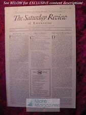 SATURDAY REVIEW March 1 1930 Arthur Colton Don Marquis Thornton Wilder