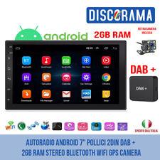 "AUTORADIO ANDROID 7"" POLLICI 2DIN DAB + 2GB RAM STEREO BLUETOOTH WIFI GPS CAMERA"