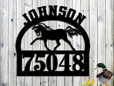 Horse Personalized Address Family Name Custom Metal Sign Hand Made USA - LARGE