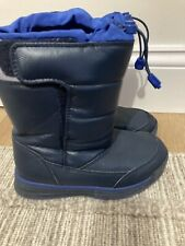 LANDS' END Kids Toddler Unisex Winter Snow Boots, Navy Blue, Size 12