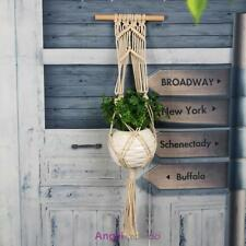 Natural Handcrafted Macrame Window Jute Plant Basket Pot Holder Hanging Hanger