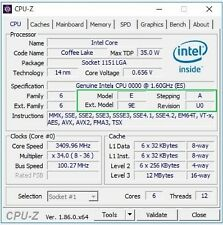 Intel Core i7-8700T ES QN8J 1.6GHz 6C LGA1151 12TH 35W 14nm CPU