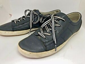 Ziera Sz 42 XW Charcoal Grey/ Navy Leather Lace Up Sneakers