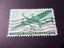 ETATS UNIS, USA, timbre AERIEN 30 POSTE AERIENNE AVION oblitéré VF used AIRMAIL