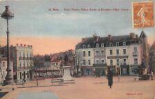 DAX  - Place Thiers, Statue Borda et Fontaine d'Eau chaude