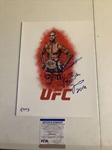 JON BONES JONES SIGNED AUTOGRAPH 8.5x11 PHOTO PICTURE PSA COA UFC CHAMP