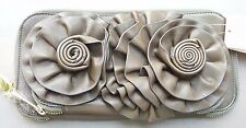 Vieta® Clutch Wallet Flower Pocket Floral Design Zip Around Purse Evening Bag