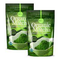 ▶▶ ORGANIC Matcha Green Tea Powder USDA Organic Antioxidant boost 4oz 2 Pack
