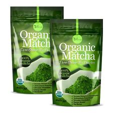 ▶▶ ORGANIC Matcha Green Tea Powder USDA Organic Antioxidant boost 4oz 2 Pack