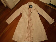 DIVINE tightrope soft pink peach french vintage style  brocade coat NWOT 8
