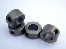 4 Collares de Eje de acero 8 mm Diámetro C/W tornillos de GRUB precisión trabajada a máquina