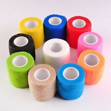 Pet Dog Cat Horse Vet Elastic Bandage Self Adherent Wrap x 6 Rolls 10cm x 4.5mtr