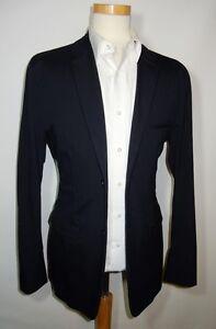 JIL SANDER - MAINLINE 'Renata Bis' Unusual Navy Cotton Belted Sports Jacket £700