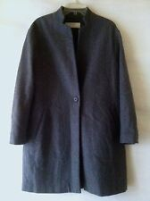 Comme NEUF Manteau T. - M Gris Mi-saison ZARA Grey Mix-wool Like NEW Coat Medium