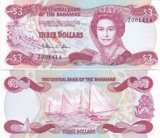 Bahamas - 3 Dollars 1974 ( 1984 ) UNC P. 44 replacement Lemberg-Zp
