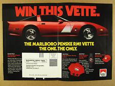 1991 Marlboro Racing Penske RM1 ZR1 Corvette red vette photo vintage print Ad