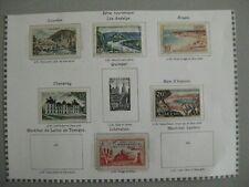 timbres France : année 1954 Y&T n° 976 à 978, 980 à 981 et 983 * et o