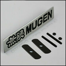 Black Metal Hood Front Grille Grill Badge Mugen Power Emblem For AC HOND