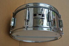 "ADD this 80s PEARL 14"" EXPORT SNARE DRUM in CHROME to YOUR DRUM SET TODAY! #V838"