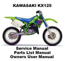 KX125 Owners Workshop Service Repair Parts List Manual PDF on CD-R KX 125 NINJA