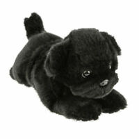 ~❤️BOCCHETTA PUG DOG Puddles Puppy 28cm black plush soft toy NWT~❤️