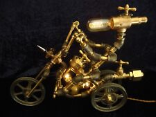 Steampunk Lamp - Robot Motorcycle/Tryke -Industrial Age - V-Twin -Brass- Dimmer!