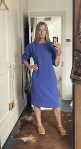 Vintage Jean Muir Crepe Wool Lilac Shift Dress