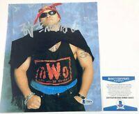 WCW NWO Konnan Autographed 8X10 Photo Signed LAX Impact WWE NXT Beckett BAS COA