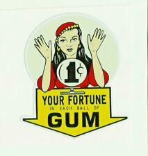 """""""GUM BALL MACHINE"""" Sticker /Decal GYPSY FORTUNE TELLER Candy"""