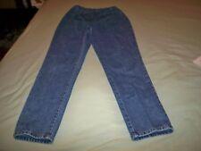 "Ladies blue maternity denim jeans,nylon elastic front,Size small,Inseam 30"""