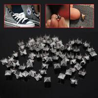 8mm Pyramid Studs Rivet Nailhead Spike Spots Square Leather Craft DIY Rock Punk