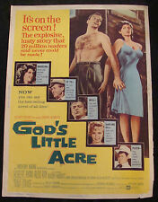GODS LITTLE ACRE movie poster A ROBERT RYAN TINA LOUISE giant 30x40