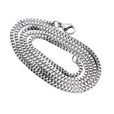 Stainless Steel 20 Inch 2 mm Box Neck Chain Necklace
