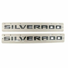 Chevrolet Silverado Fender & Tailgate Silverado Custom Black Emblem 84300948 OEM