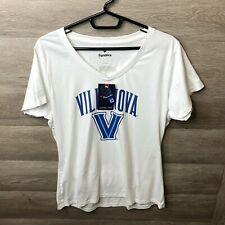 Fanatics Women's Size Large White Villanova University V-Neck T-Shirt NEW