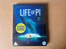 Life of Pi (3D + 2D Blu-Ray Steelbook) (New/Sealed) lenticular