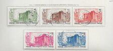 Lot timbres oblitérés Afrique Equatoriale Française Du N° 72 au N° 76