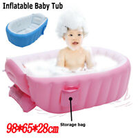 Baby Inflatable Bathtub PVC Thick Portable Bathing Bath Tub for Kid Newborn