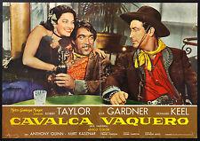CINEMA-fotobusta CAVALCA VAQUERO a. gardner, r. taylor