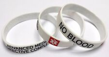 NO BLOOD  ADVANCED MEDICAL DIRECTIVE COMPLETED Alert Wristband Silicone bracelet