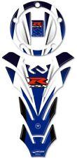 KIT ADESIVI-STICKERS in RESINA 3D BLU PROTEZIONE SERBATOIO GSX-R per MOTO GSXR