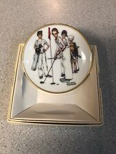 Norman Rockwell Four Seasons Mini Plate - 561, Missed. Golf