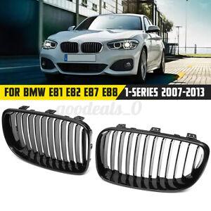Gloss Black Front Kidney Grill Grille For BMW 1 Series E81 E82 E87 E88 128i 135i