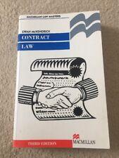 Contract Law - Ewan McKendrick - Third Edition Paperback Macmillan