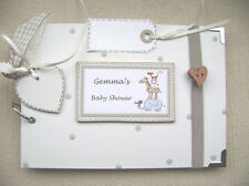 PERSONALISED baby shower    A5 SIZE.20 pages  PHOTO ALBUM/SCRAPBOOK/MEMORY BOOK