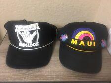 2 Vintage Mesh Trucker Caps Hangloose Hawaii / Maui Rainbow Snapback