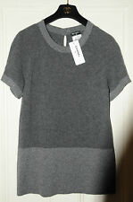 $1750! NEW CHANEL Grey Cashmere  Paris-Byzance Sweater Pullover JACKET 40