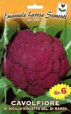 250 Semi/Seeds CAVOLFIORE di Sicilia Violetto Marzo